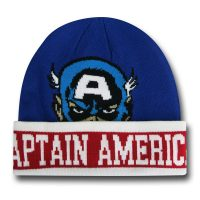 Captain America Face Beanie