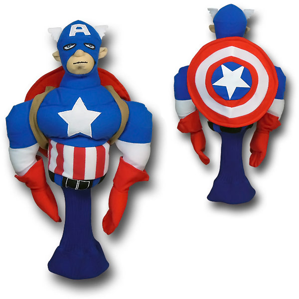 Captain America Figure Golf Club Cover