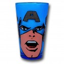 Captain America Glitter Pint Glass