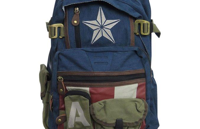 Captain America Herringbone Laptop Backpack