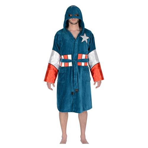 Captain America Hooded Fleece Bathrobe – GeekAlerts 252db0286