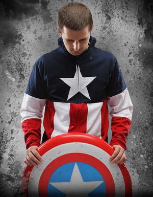 Captain America Hoodie pose