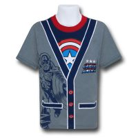 Captain America Kids Cardigan TShirt