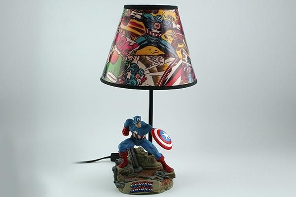Captain America Lamp Geekalerts