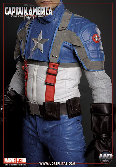Captain America Leather Motorcycle Suit