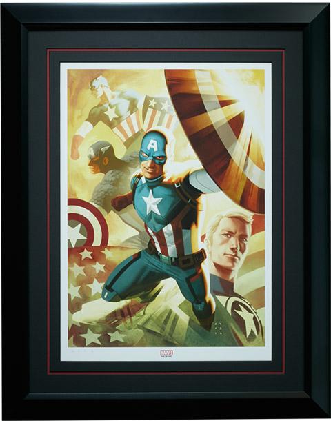 Captain America Legacy Premium Art Print framed
