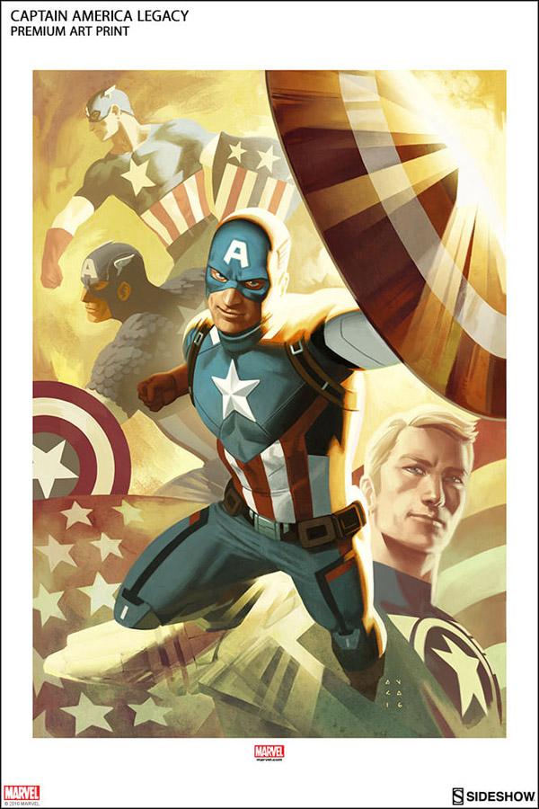 Captain America Legacy Premium Art Print