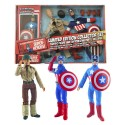 Captain America Limited Edition 8-Inch Retro Action Figure Set