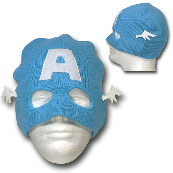 Captain America Mask Costume Beanie