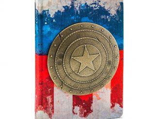 Captain America Metal Shield Premium Journal