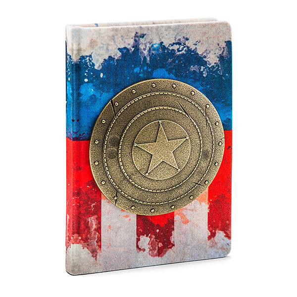 Captain America Metal Shield Premium Journal