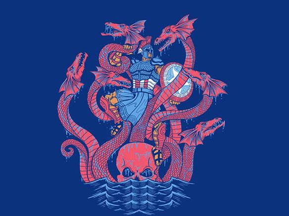 Captain America Modern Myths III T-Shirt