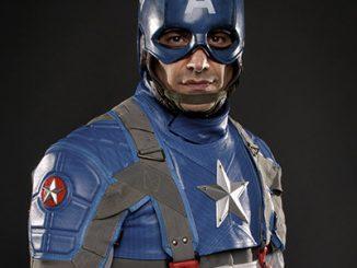 Captain America Motorcycle Suit