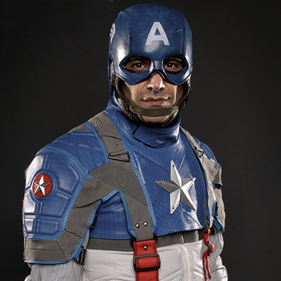 Captain America The First Avenger Motorcycle Suit