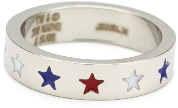 Captain America MultiColor Star Ring