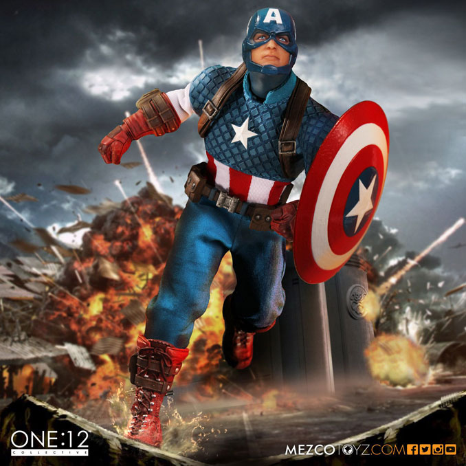 Captain America One 12 Action Figure