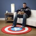 Captain America Printed Round Rug