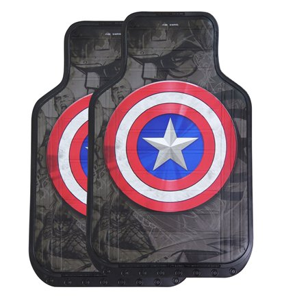 Captain America Shield Floor Mat 2-Pack
