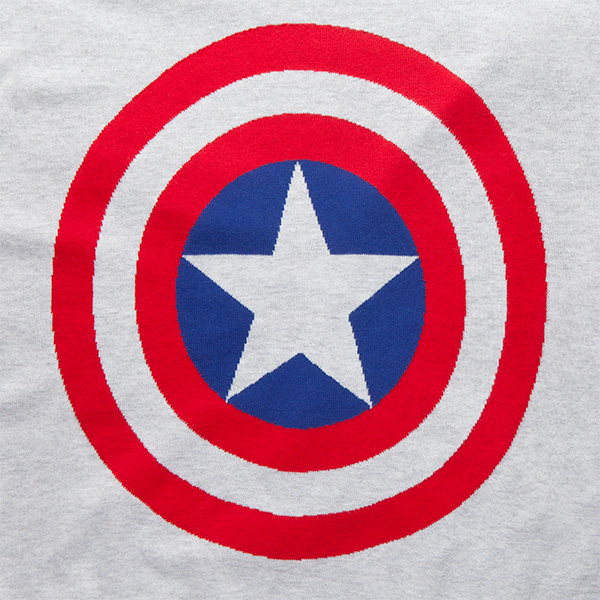 Captain America Shield Knit Sweater