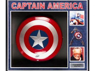 Captain America Shield Signed By Stan Lee