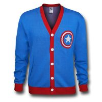 Captain America Shield Symbol Cardigan