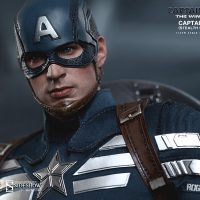Captain America Sixth Scale Figure head detail