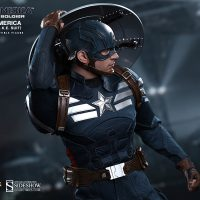Captain America Sixth Scale Figure removing shield from back