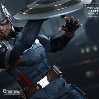 Captain America Sixth Scale Figure using shield