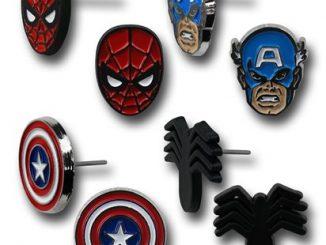 Captain America Spiderman 8-Piece Earring Set