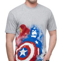 Captain America Splatter T-Shirt