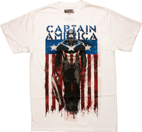 Captain America Steve Epting Artwork T-Shirt