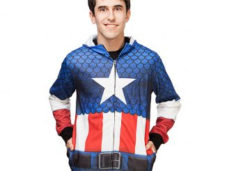 Captain America Sublimated Hoodie