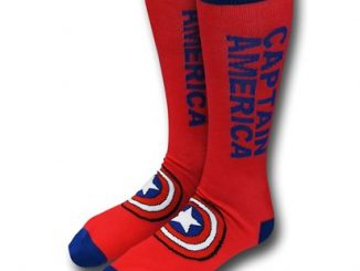 Captain America Text Crew Socks
