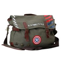 Captain America Vintage Military Messenger Bag