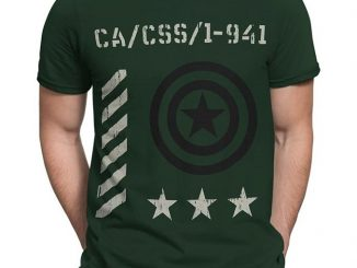 Captain America Vintage Military T-Shirt