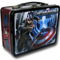 Captain America Winter Soldier Large Tin Lunch Box