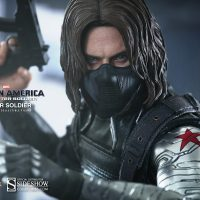 Captain America Winter Soldier Sixth Scale Figure Detail with Mask