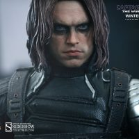 Captain America Winter Soldier Sixth Scale Figure Face Detail