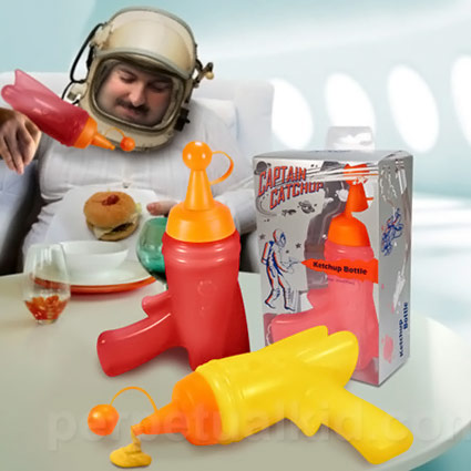 Captain Ketchup and Mustard Bottle Space Guns