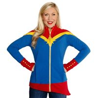 Captain Marvel Ladies Zip-Up Jacket