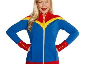 Captain Marvel Ladies Zip-Up Jacket