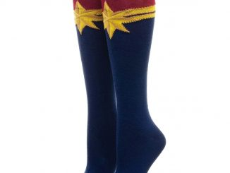 Captain Marvel Logo Knee Socks