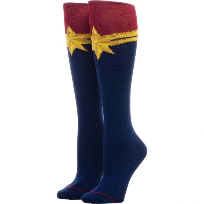 Captain Marvel Logo Knee Socks