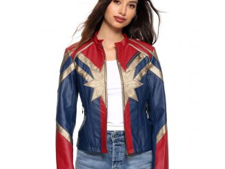 Captain Marvel Star Faux Leather Jacket