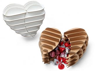 Cardboard Safari Heart Shaped Gift Box