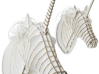 Cardboard Safari Unicorn Trophy