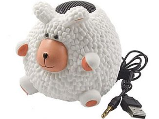 Cartoon Sheep PC Laptop Color Changing Lamp Mini Speaker