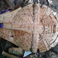 Carve Wood Millennium Falcon