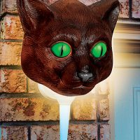 Cat Head Porch Light Cover
