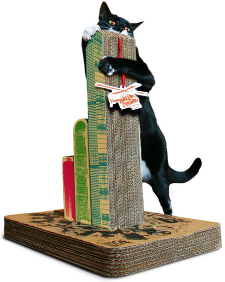Cats Attack Stratching Post